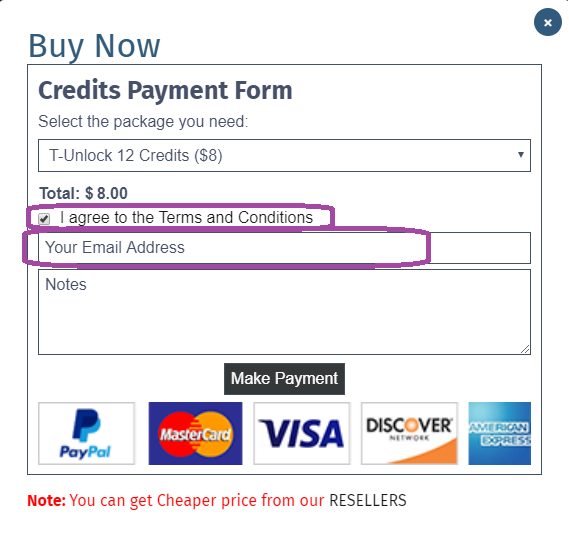 Website Payment Method Step 3